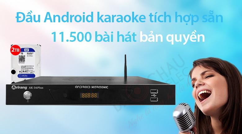 Đầu Arirang AK-36Plus 2TB cho karaoke tiện lợi hơn