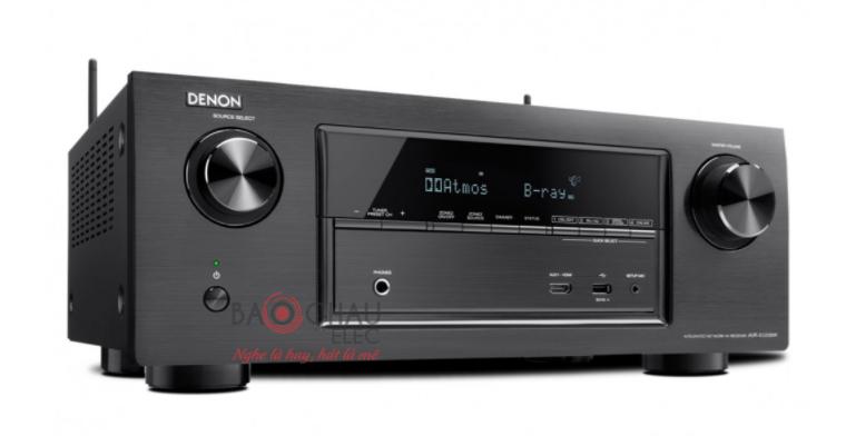 Amply Denon AVR-X3200W - mặt nghiêng