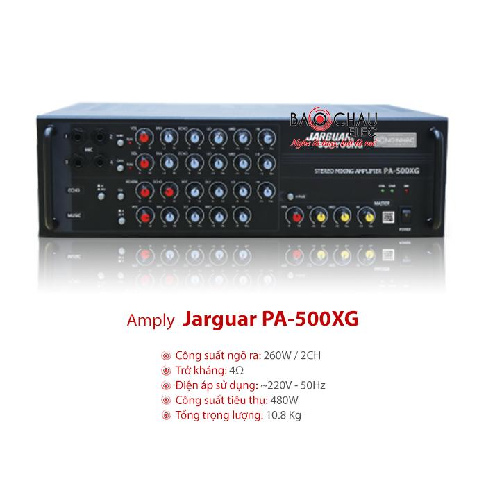 Amply Jarguar PA 500XG chính hãng, giá tốt, karaoke cực hay