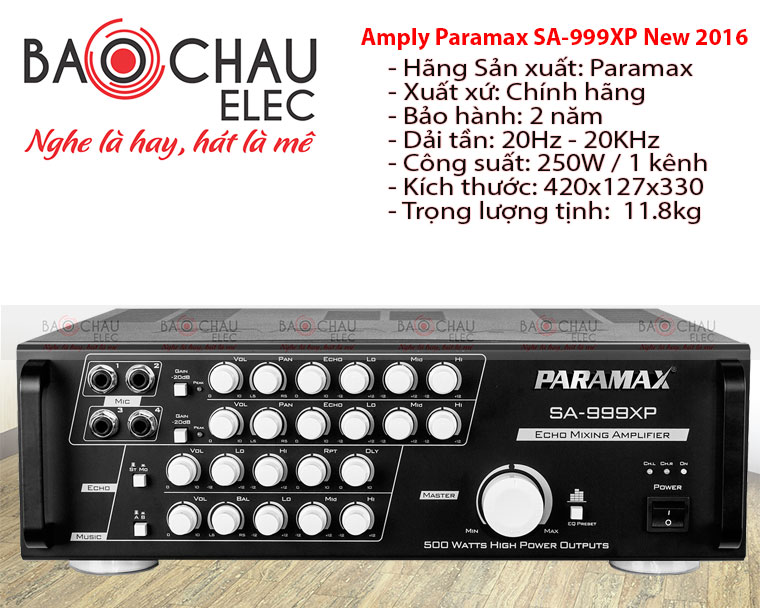 Amply PARAMAX SA999XP NEW 2016