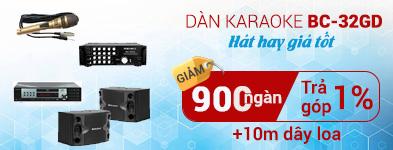 Dàn karaoke BC-32GD giá rẻ cho gia đình
