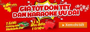 Khuyến mại dàn karaoke Tết Mậu Tuất 2018