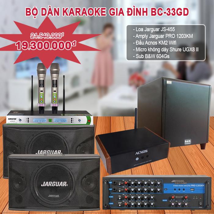 Dàn karaoke gia đình BC – 33GD
