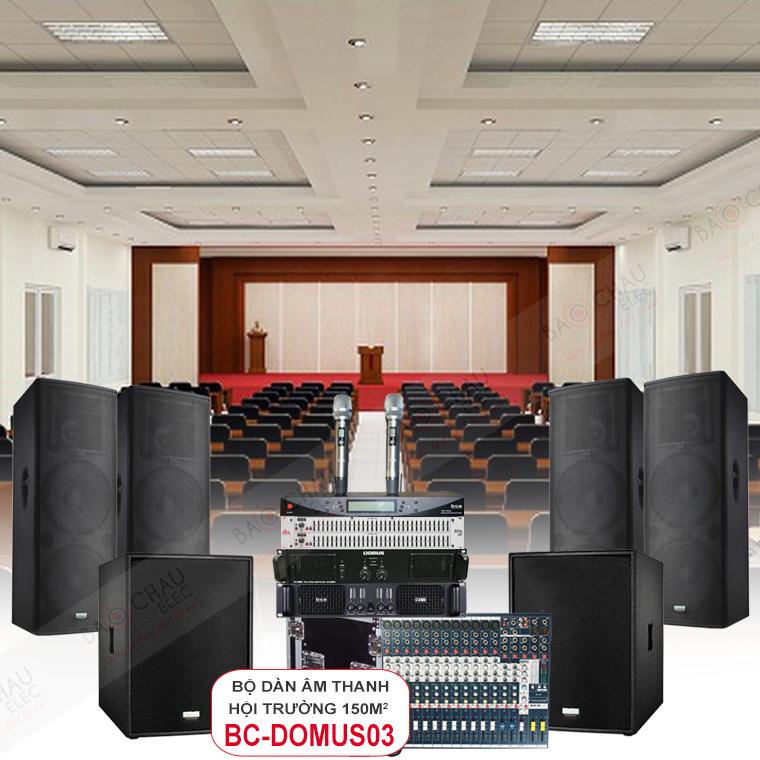 Dàn âm thanh hội trường 150m2 BC-Domus03