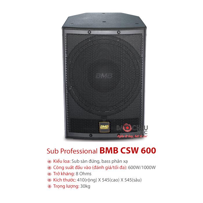 Loa sub BMB CSW 600