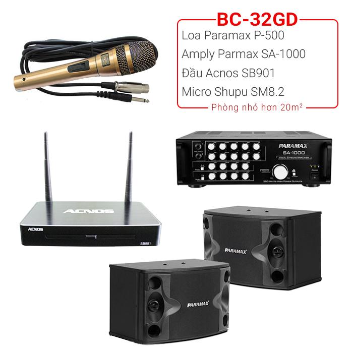 Dàn karaoke gia đình BC-32GD (new 2018)