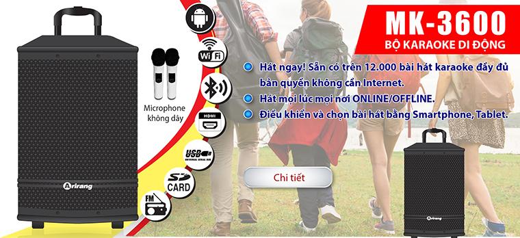 Loa Arirang MK-3600 loa karaoke bluetooth hay, giá rẻ