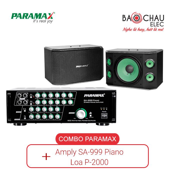 Combo Paramax 999 Piano và Loa P2000
