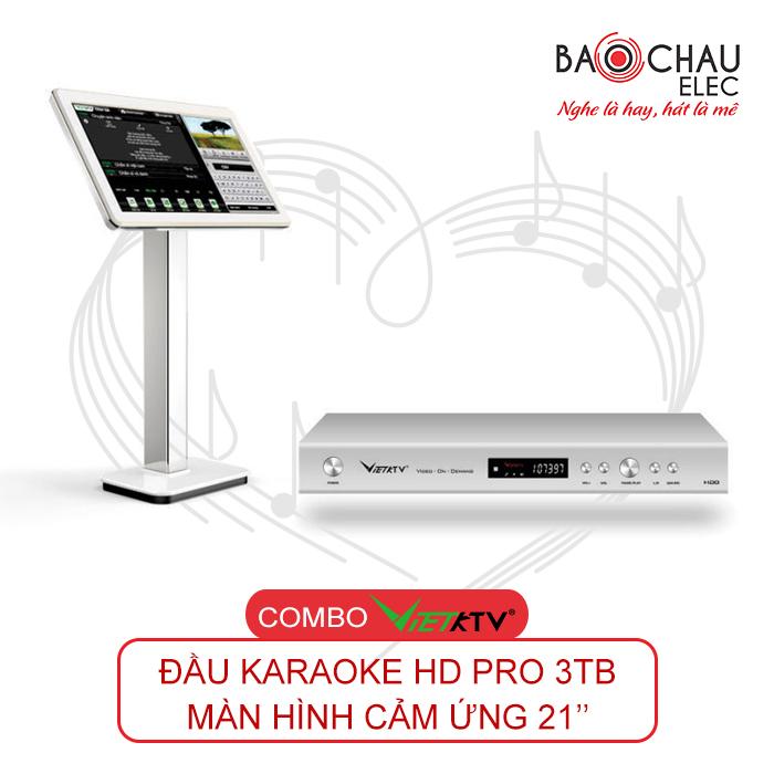 Combo VietKTV HD Pro 3TB + Màn hình 21inch