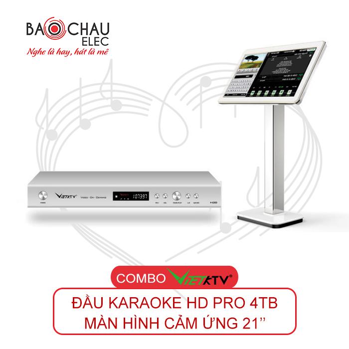 Combo VietKTV HD Pro 4TB + Màn hình 21inch