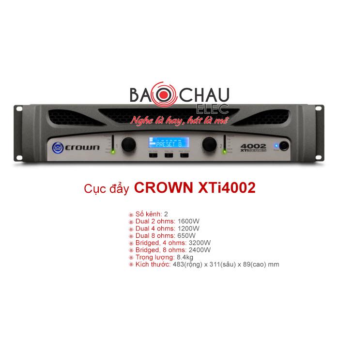 Cục đẩy công suất Crown XTi4002