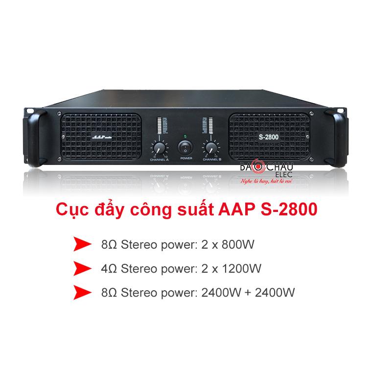 Cục đẩy công suất AAP S-2800