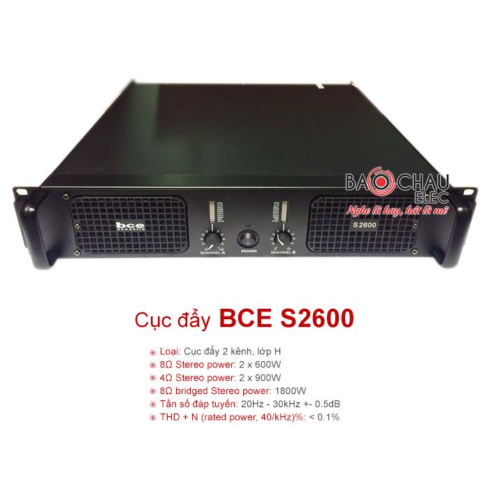 Cục đẩy công suất BCE S2600 chính hãng, giá tốt nhất