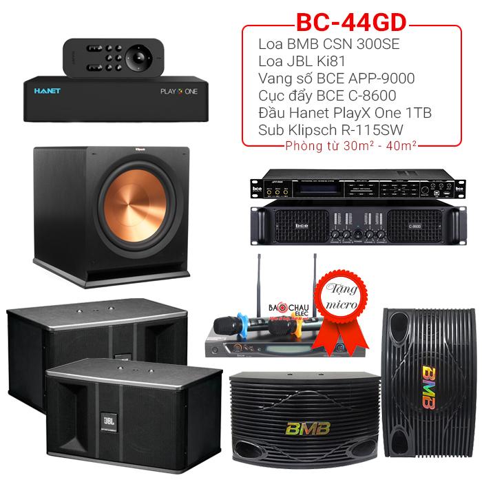 Dàn karaoke gia đình BC-44GD (new 2018)