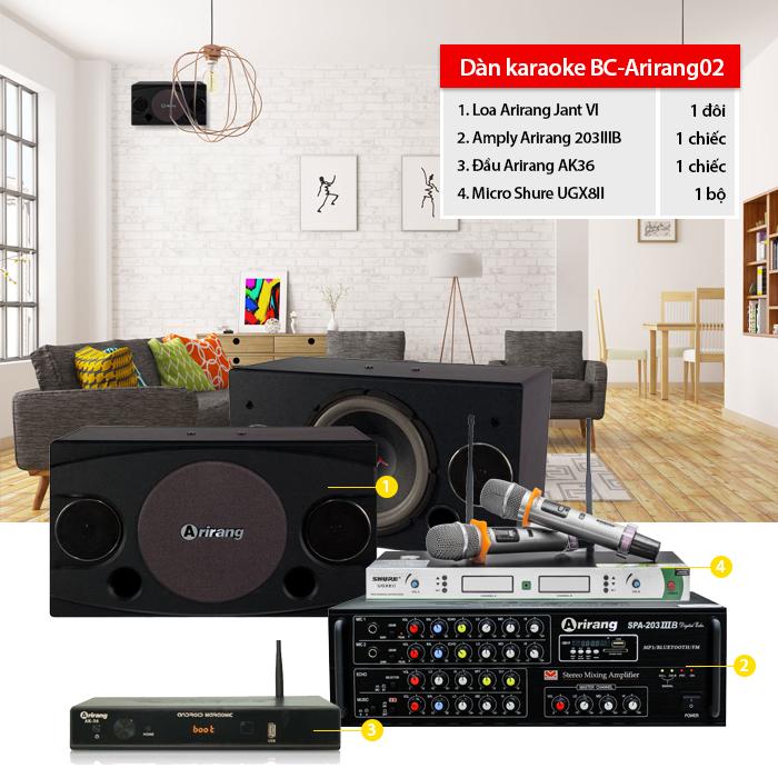 Dàn karaoke BC-Arirang02- thực tế