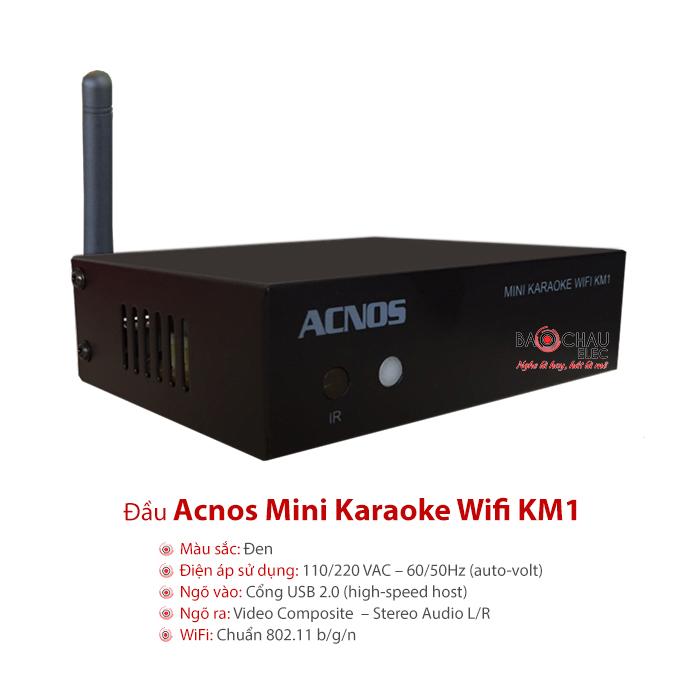 Đầu Acnos Mini Karaoke Wifi KM1