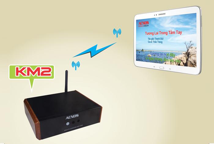 Đầu Acnos Mini Karaoke Wifi KM2 - tính năng 5