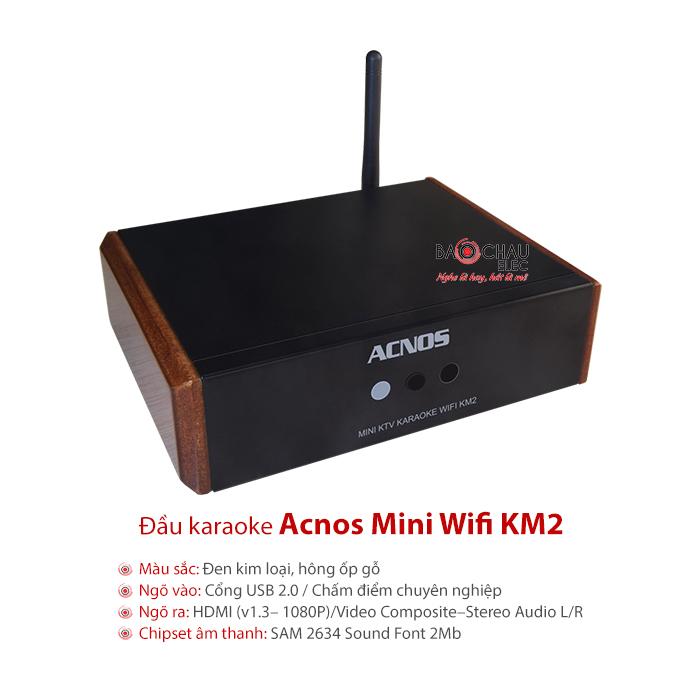 Đầu Acnos Mini Karaoke Wifi KM2