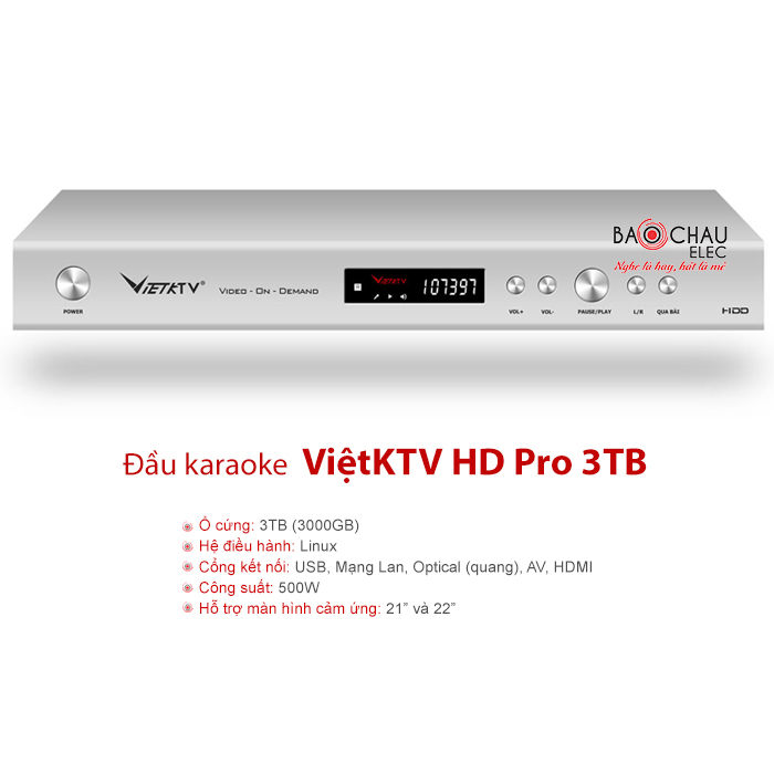 Đầu karaoke ViệtKTV HD Pro 3TB
