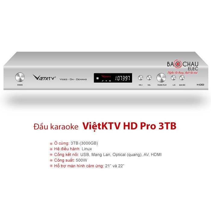 Đầu VietKTV HD Pro 3TB giá tốt nhất