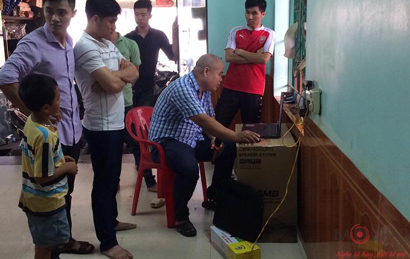 Lắp đặt dàn karaoke gia đình cho anh Hùng tại Việt Yên - Bắc Giang