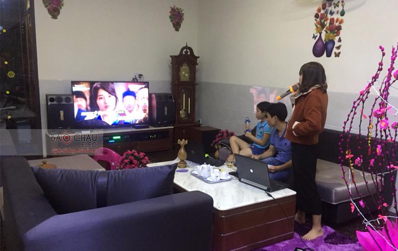 Lắp đặt dàn karaoke gia đình anh Linh - Cẩm Lệ Đà Nẵng