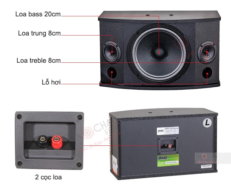 Thông số kỹ thuật Loa karaoke BMB CSN 300(SE)