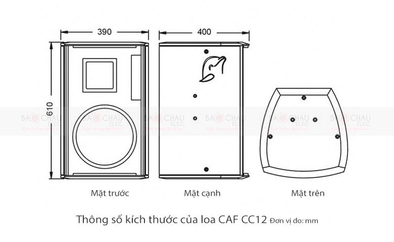 loa-caf-cc12-cau-tao-kich-thuoc