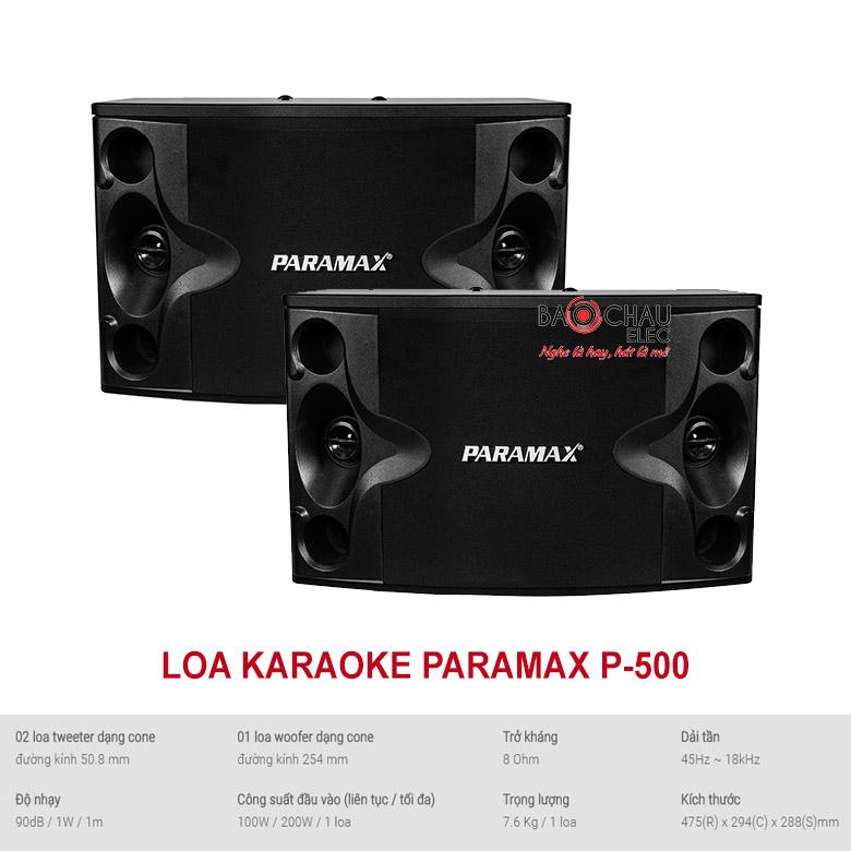 Loa karaoke paramax P-500