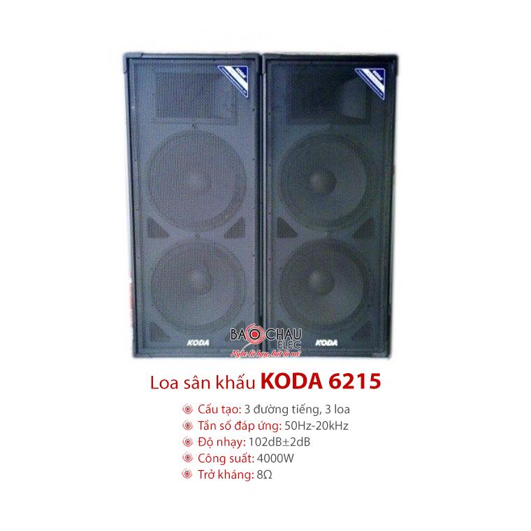 Loa Koda 6215 - dòng loa sân khấu hội trường chính hãng, giá rẻ nhất tại Bảo Châu Audio
