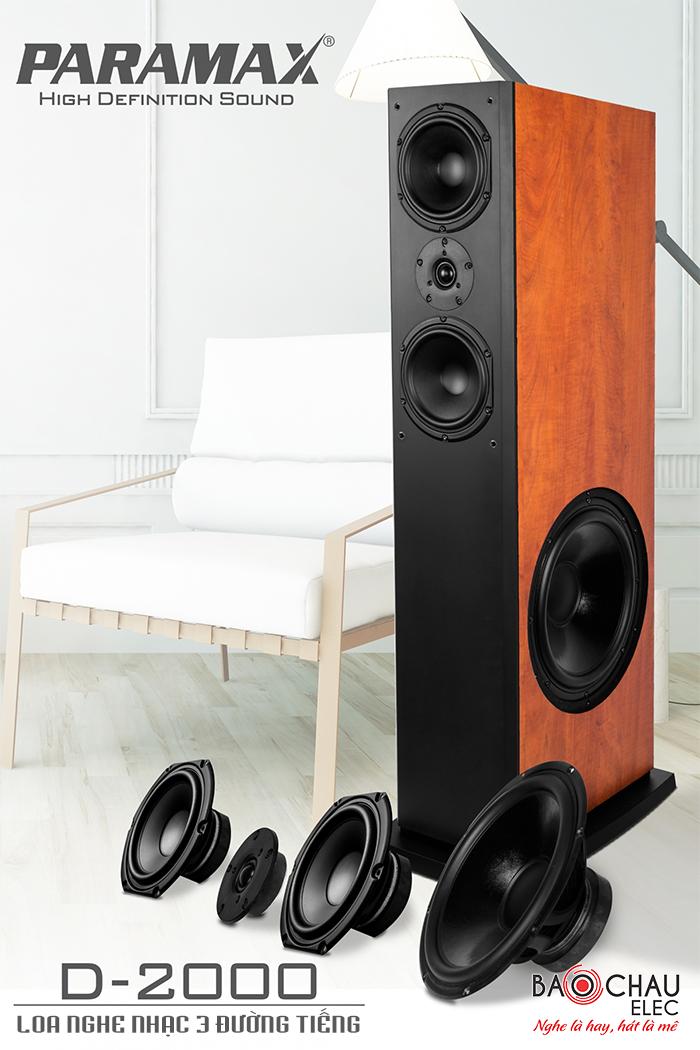 Loa Paramax D2000 - loa 3 đường tiếng cho chất lượng âm thanh cao, nghe nhạc rất thích