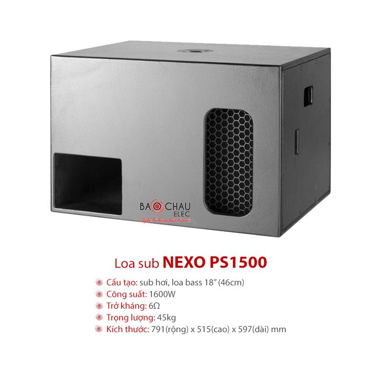 Loa sub Nexo PS1500