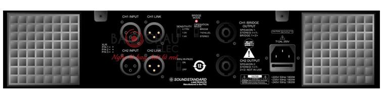 Mặt sau cục đẩy Soundstandard CA9