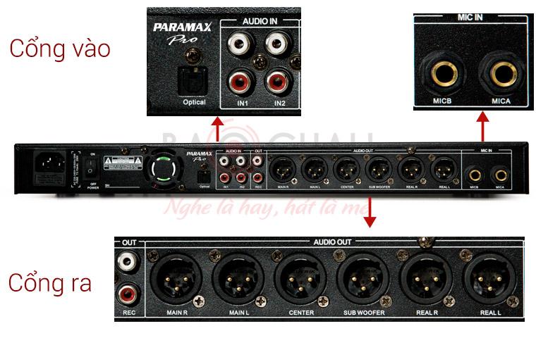 Mặt sau vang số Paramax MX-2000 new
