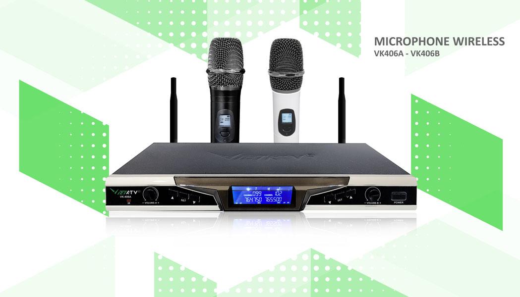 Micro cao cao khong day VietKTV 406A