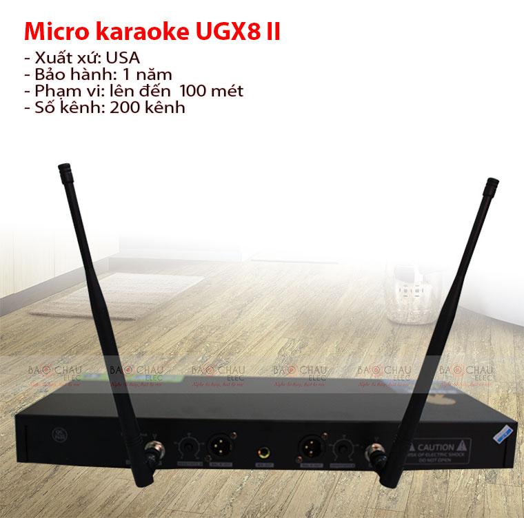 Mặt sau Micro Shure UGX8 II chính hãng, giá tốt, chất lượng cao
