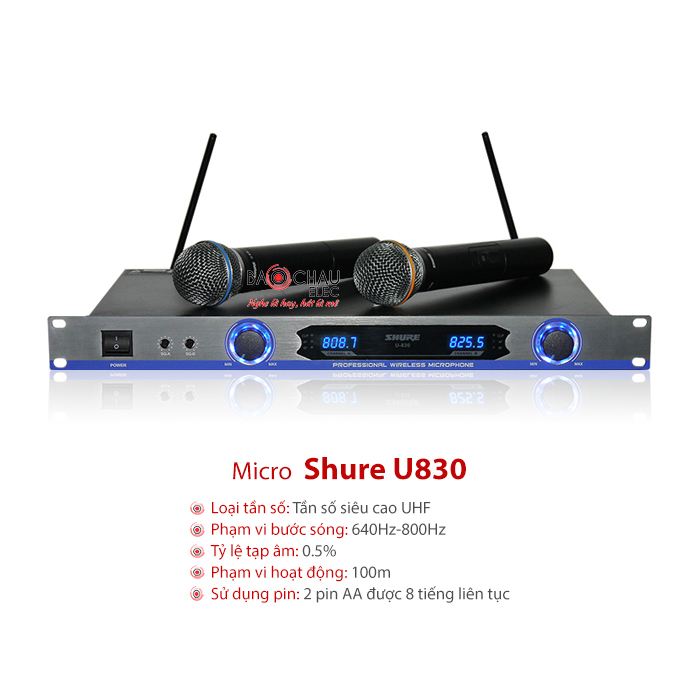 Micro không dây Shure U830 chính hãng giá tốt