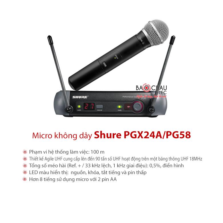 Bộ micro không dây Shure PGX24/PG58