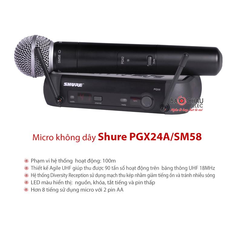 Bộ micro không dây Shure PGX24/SM58