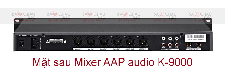 Mixer AAP audio K-9000 mat sau