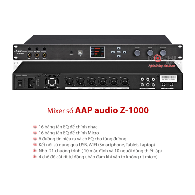 Mixer số AAP audio Z-1000