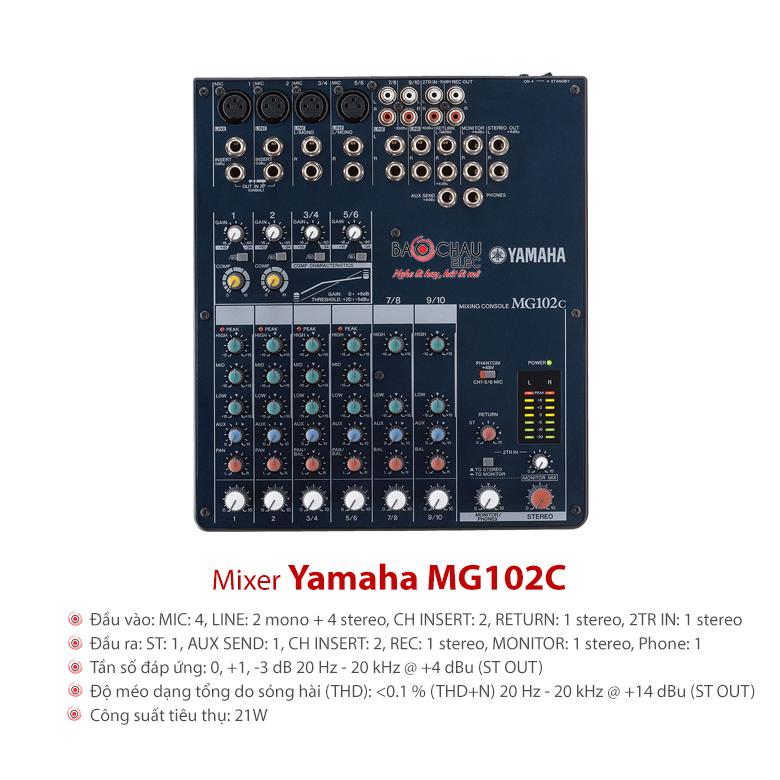 Bàn mixer Yamaha MG102C