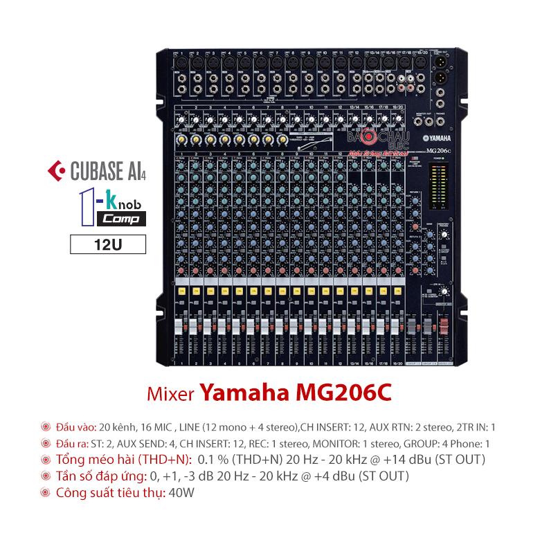 Mixer Yamaha MG206C USB