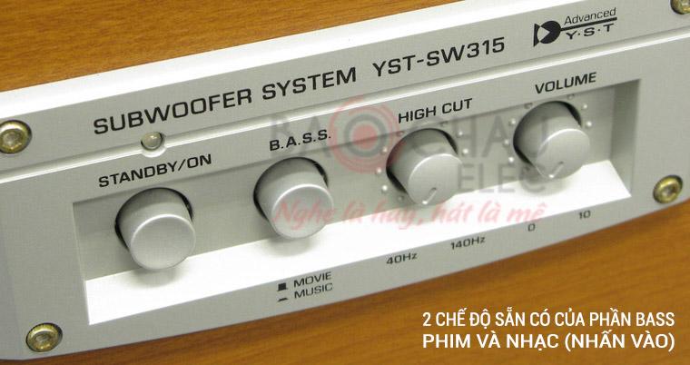 Nút Bass của Yamaha YST-SW315