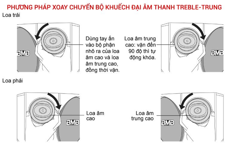 Phương pháp xoay chuyển bộ khuếch đại âm thanh treble-trung của BMB CSE 308