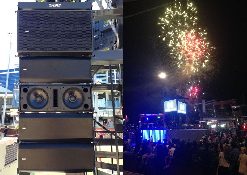 SAE cung cấp âm thanh tại Melbourne - Australia trong lễ hội pháo hoa năm mới