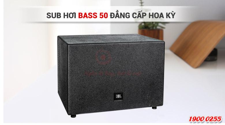 Loa sub JBL cho âm trầm sâu chắc, uy lực, đáp ứng tốt nhu cầu hát karaoke, nghe nhạc và xem phim