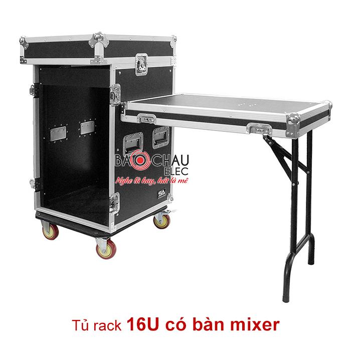 Tủ rack 16U có bàn mixer