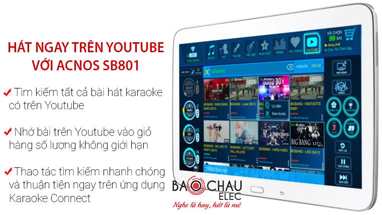 u Acnos Acnos SB901 hát ngay trên youtube