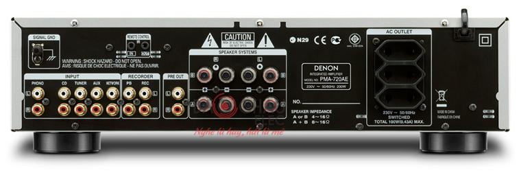 u Denon DCD-720AE - mặt sau